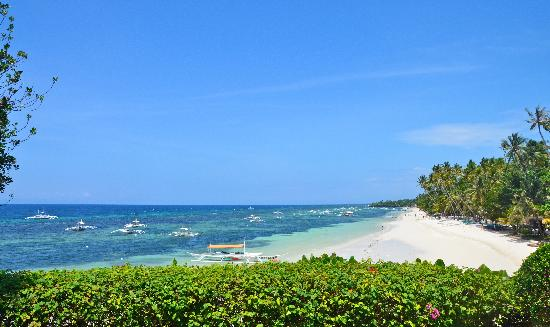 Amorita Resort: View of Panglao Beach from Amorita