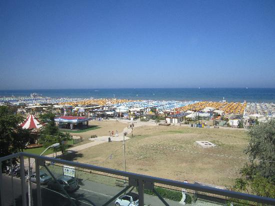 Hotel Rivazzurra Rimini: Superbe vue!!!