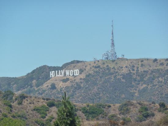 หอสังเกตุการณ์กริฟฟิท: Hollywood sign from Griffith Park
