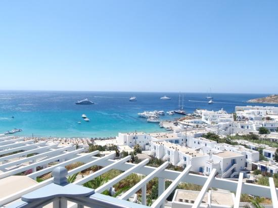 Myconian Ambassador Relais & Chateaux Hotel : view from balcony