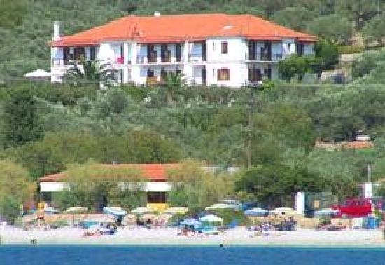 Hotel Panormos Beach Skopelos: panoramica dalla spiaggia che però potete trovare anche su internet