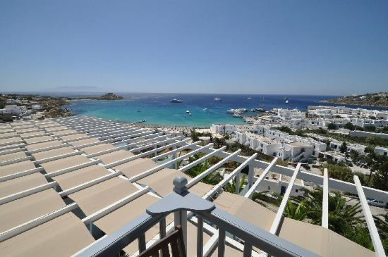Myconian Ambassador Hotel & Thalasso Spa Center: view from balcony