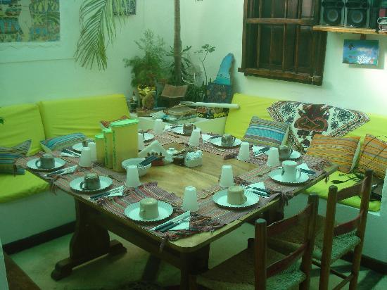 Posada Ranchito Power: la tavola pronta per la colazione