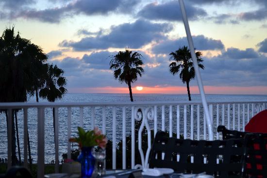 La Valencia Hotel Rear Patio Ocean View Restaurant