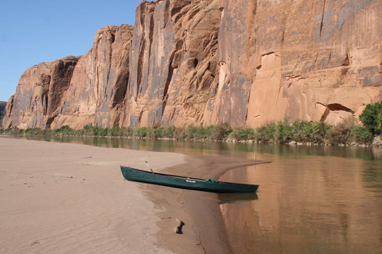 Moab Rafting and Canoe Company - Day Tour: On sandbar in  the Colorado  river just south of Moab UT