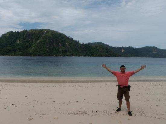 in sand of Sikuai Island