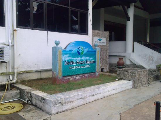 De Rhu Beach Resort: Entrance to hotel
