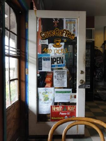 Cove Coffee and Tackle: Cove Coffee Front Door