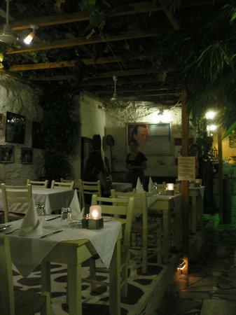 Apollon Garden Restaurant: tables under the porch