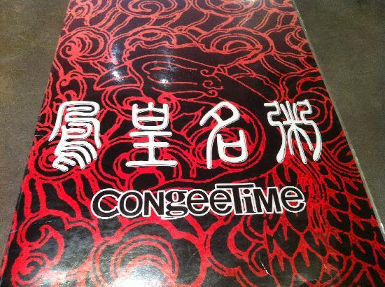 Congee Time: Menu Cover
