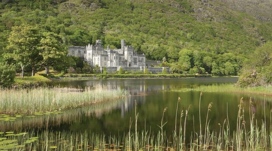 Kylemore, Ireland: The Abbey and Lake in June Sun