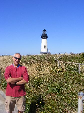 Yaquina Head Outstanding Natural Area: Author at the lighthouse