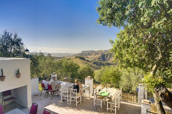 The Olive Branch: Breakfast on the  lower terrace