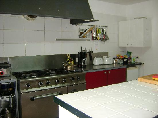 The Olive Branch: large communal kitchen