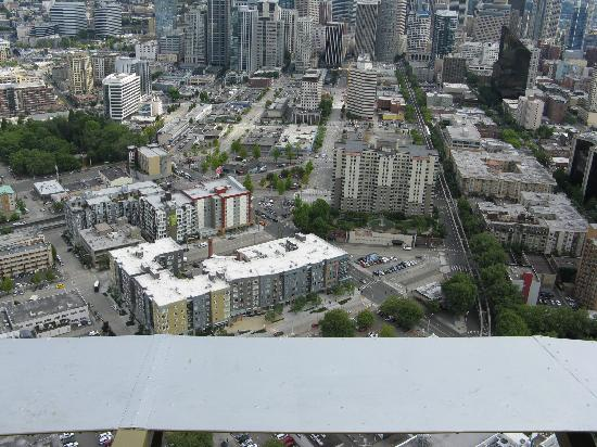 hotel seen from space needle left of centre picture of. Black Bedroom Furniture Sets. Home Design Ideas