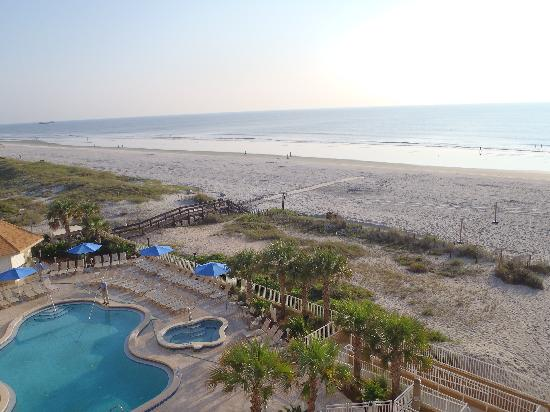 Jacksonville Beach, FL: view of pool from the balcony