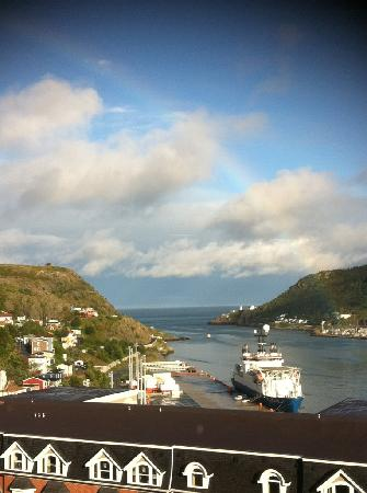 Sheraton Hotel Newfoundland: View of the Narrows from our hotel room