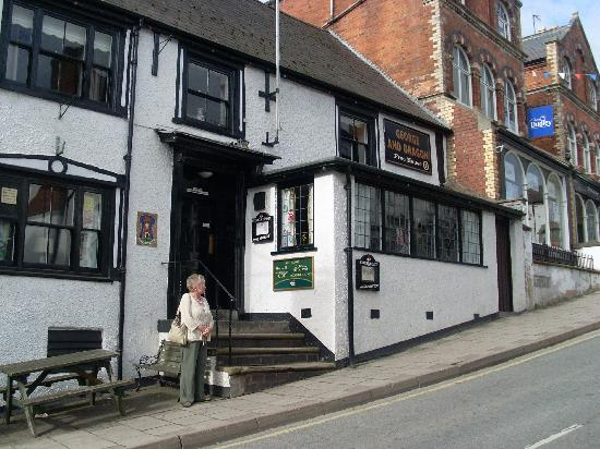 The George & Dragon: My good wife June ouside the pub