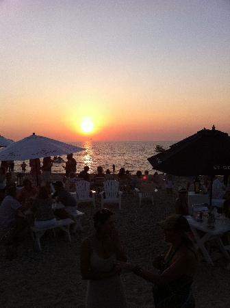 Navy Beach: Sunset on the beach