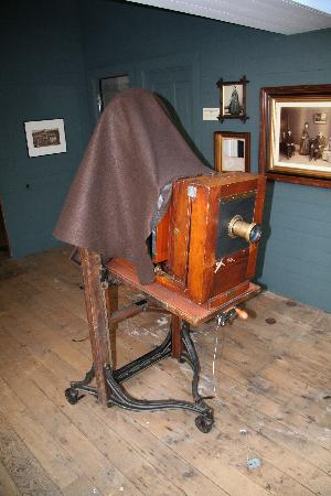 H.H. Bennett Studio: One of a number of massive old cameras on display