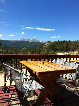 Nederland, CO: outdoor seating with an amazing view!
