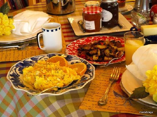 Rancho Bernardo Bed & Breakfast: Delicious breakfast