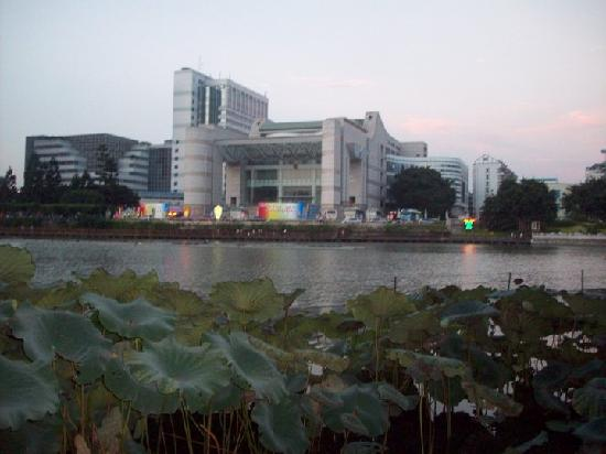 West Lake Hotel: View of Hotel across West Lake Park