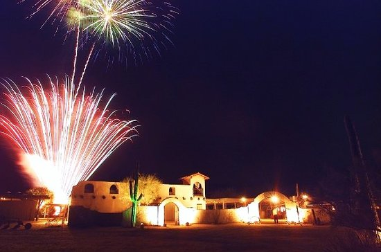 Central Arizona, AZ: Fireworks over our beautiful event venue