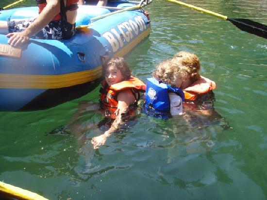 Bigfoot Rafting Day Trips: Auntie & cousins in the water