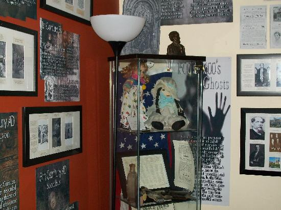 International Museum of Spiritual Investigations: One wall of many displays