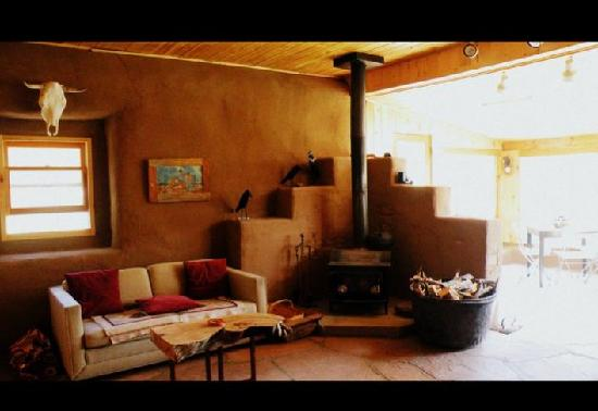 MW Bar Ranch: The inside of the adobe cabin.