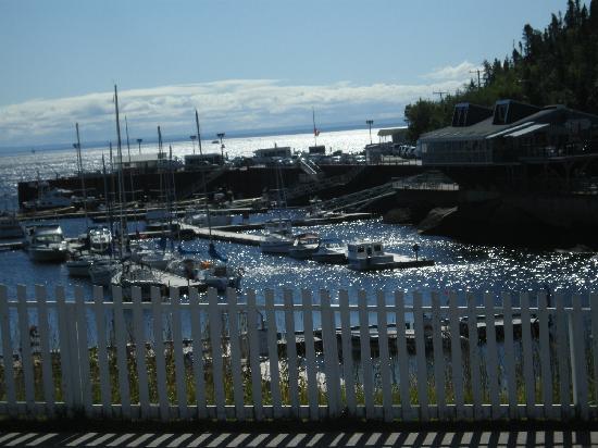 Hotel Sous la Croix : The marina in Tadoussac