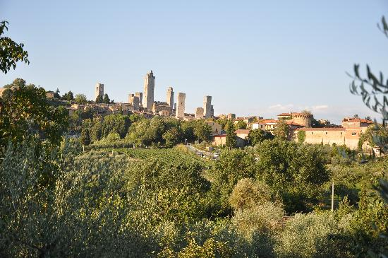 Relais Santa Chiara Hotel: View of San Gimignano from behind the hotel