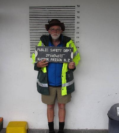 Napier Prison Tours: Lock him up quick!