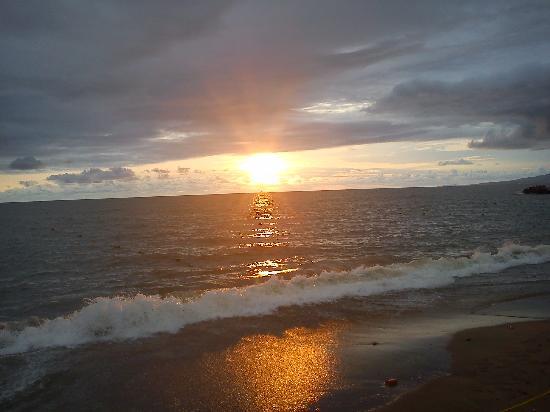 Las Palmas by the Sea: vista de la puesta del sol desde hotel las palmas