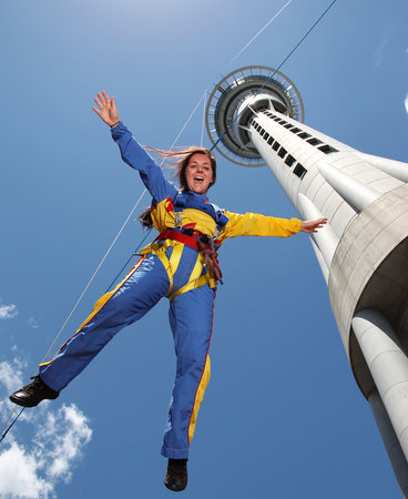 SkyJump and SkyWalk: On the way down