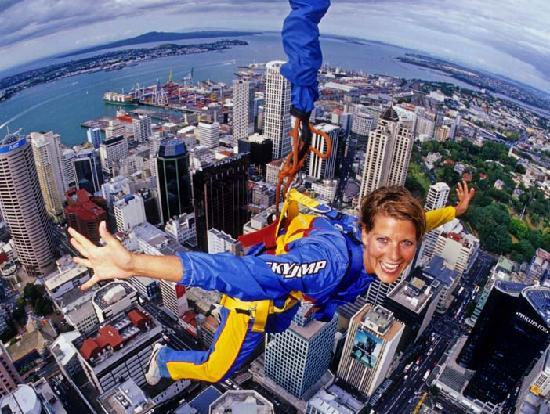 SkyJump and SkyWalk : Just hanging out