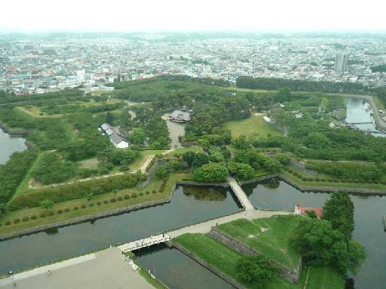 Hakodate Bugyosho : 五稜郭タワーから見た奉行所