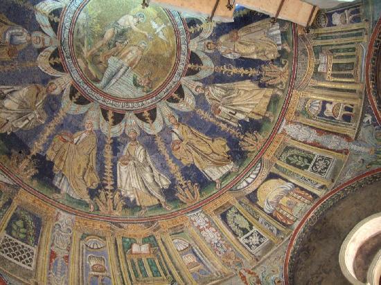 Battistero Neoniano (Battistero degli Ortodossi): モザイクで埋め尽くされたクーポラ