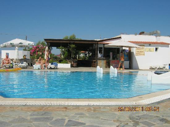 Eleni Apartments: Pool and bar