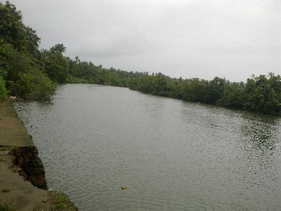 Karma Royal Monterio: Arpora river, right across the resort entrance