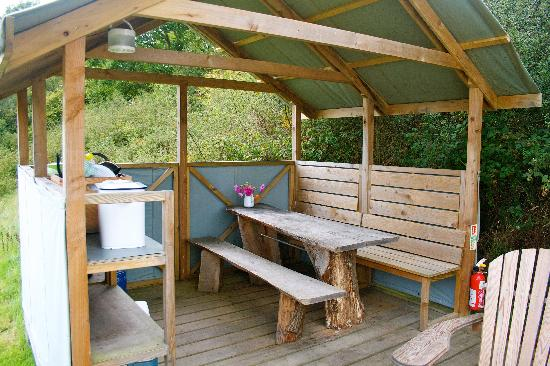 Inside dome 6 picture of fforest farm cardigan for Outdoor camping kitchen ideas