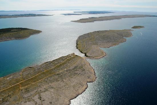 Bucht mit Inseln, Pension Smokvica, Vrsi Kroatien