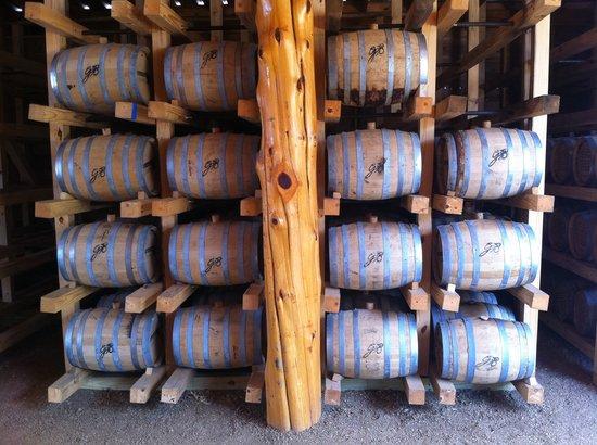 Garrison Brothers Distillery: aging in barrels