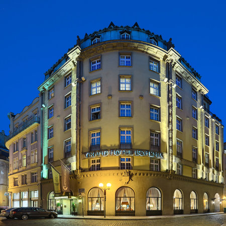 Grand Hotel Bohemia: Exterior - night view