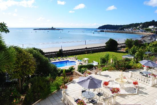St Aubin, UK: view from the room