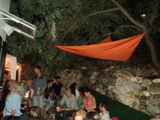 The Green Lizard: just to give you an idea - everyone in the chill out area before going out!
