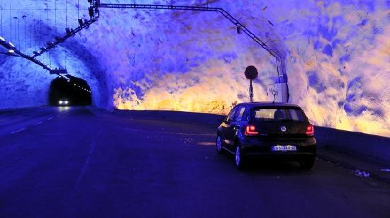 "Aurland Municipality, Norway: ""Pausenhallen"" im Tunnel"