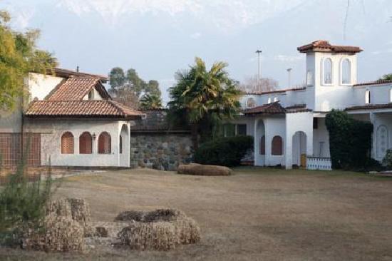 ألبيرجو لوسون: Particolare della struttura che si vede da uno dei giardini interni.