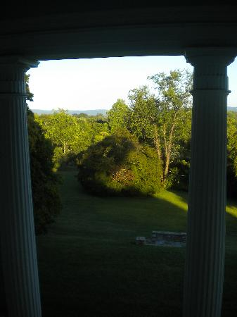 Rosemont Manor: View from balcony off Byrd's Study